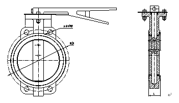Zero Leakage Wafer Gearbox Operated Butterfly Valve 12'' For Petrochemical Processing