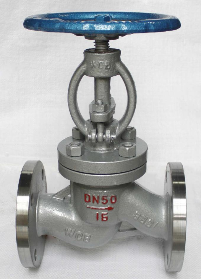 DIN PN40 OS & Y Flanged Globe Valve , Steam Cast Steel Globe Valve