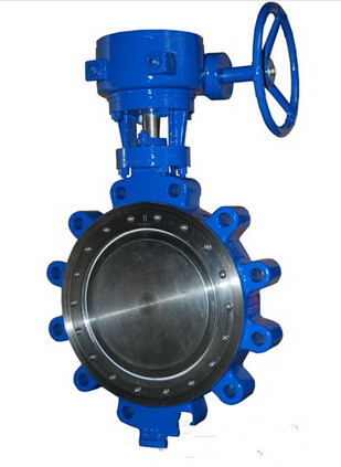 Carbon Steel Lug Type Eccentric Butterfly Valve Manual ANSI 300LB PN40