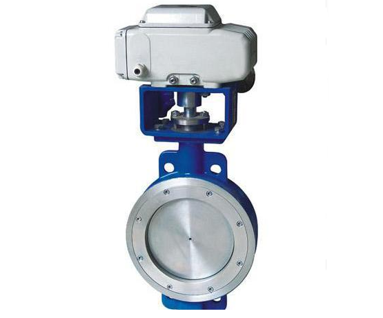 Eccentric Wafer Electric Actuated Butterfly Valve 10 Inch Stainless Steel
