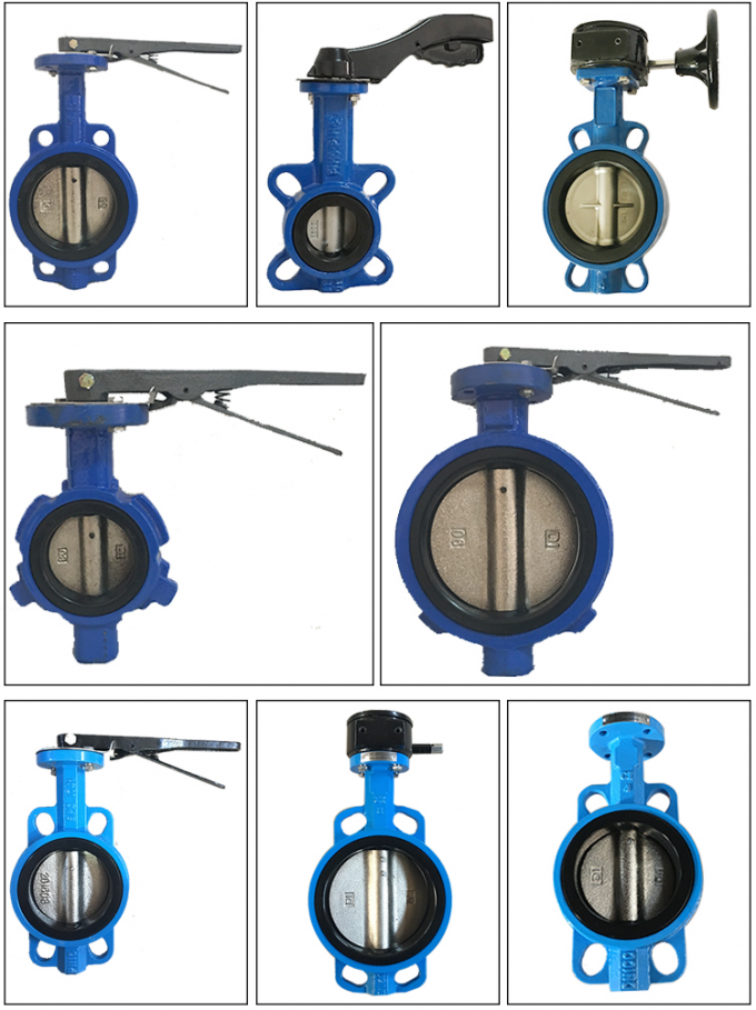 80mm PN16 PTFE Lined Wafer Handle Operated Centerline Butterfly Valves