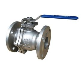 China Two Way Stainless Steel Flanged Ball Valve , Stem Reduced Bore Ball Valve Class 300 supplier