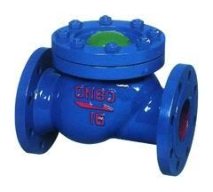 China Rubber Ball Flanged Check Valve , Automatic Actuated Water Supply Check Valve supplier