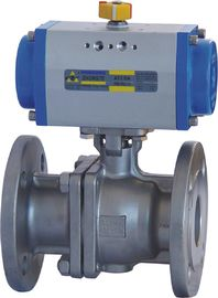 China Floating Type Pneumatic Actuator Ball Valve 10 Inch ANSI 600 Flanged End supplier