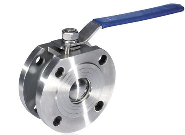 "China Full Bore 6"" Wafer Ball Valve PN16 Pressure ISO 5211 Mounting Pad supplier"