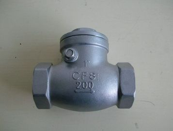 "China Small Threaded Swing Type Wafer Check Valves 2"" API 602 200PSI SS supplier"