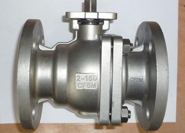 China SS ANSI Class 150 Quarter Turn Ball Valve 2 Way ISO 5211 Flange Type supplier