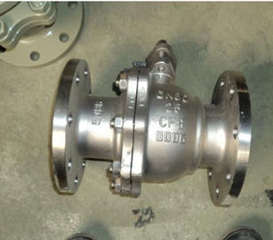 China SS 2 Piece Flanged Floating Ball Valve API 608 Class 300 For Water supplier