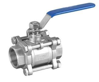 China NPT Threaded 3 Piece SS Ball Valves Full Bore 1000WOG For Water supplier