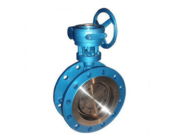 China Zero Leakage Triple Eccentric Butterfly Valve , Metal Seal Flange Type Butterfly Valve supplier