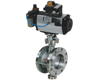 China Pneumatic Operated 4 Inch Eccentric Butterfly Valve Flange Type ANSI 300 LB supplier
