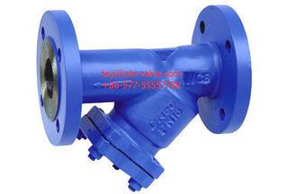 China Cast Iron Flanged 2 Y Type Strainers DIN Standard With SS Screen supplier