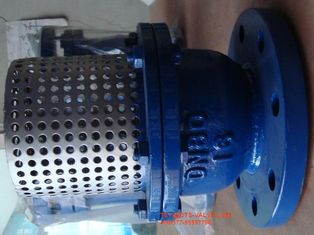 China Cast Iron Flange Strainer Foot Valve 8'' With Stainless Steel Screen supplier