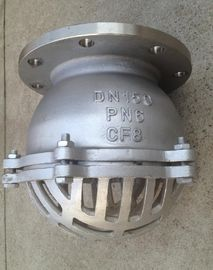 China Stainless Steel PN16 Water Flanged Foot Valve With Strainer 2 Inch supplier
