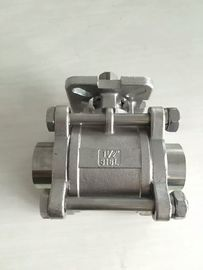 China Investment Casting Three Way Ball Valve 2000 WOG ISO 5211 Mounting Flange supplier