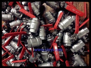 China 2PC Body Screwed End 1000PSI Stainless Steel Ball Valves A351 CF8 / CF8M / CF8C supplier