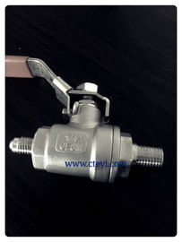 China Male Screw / Nozzle End Stainless Steel Ball Valves 2PC Body With Lever supplier