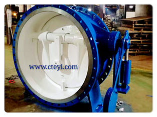 China DN1400 / PN16 Carbon Steel Flanged Check Valve Flanged Butterfly Check Valve supplier