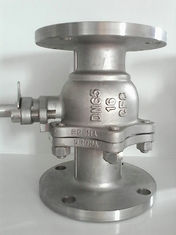 China 2PC Flanged Ball Valve SS316 ANSI B16.10 Flanged OD BS4504 undrilled supplier