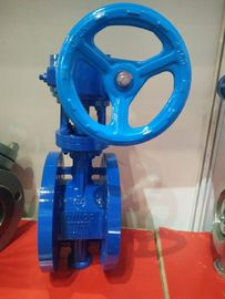 China Worm Gear Double Flanged Ductile Iron Eccentric Butterfly Valve supplier