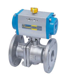 China Double Acting Actutator Stainless Steel Flanged Ball Valve supplier