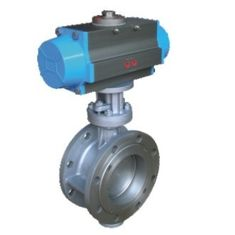 China Pneumatic Actuator Wafer Connection Hard Seal Double Flanged Triple Eccentric Butterfly Valve supplier