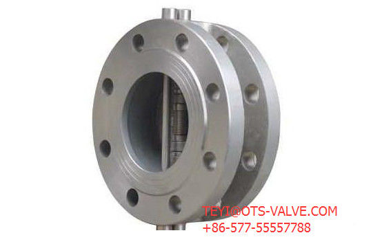 Double Disc Type Flanged Check Valve 4 Inch ANSI 600 LB Carbon Steel