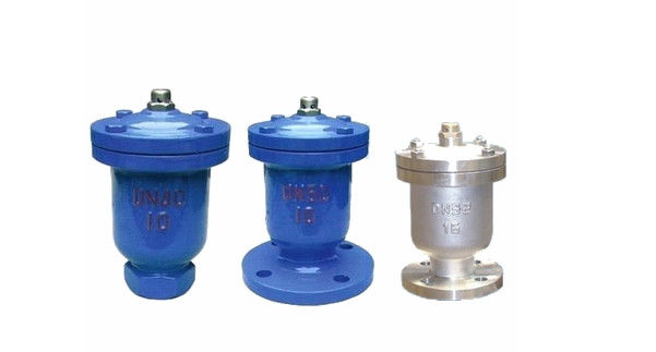 PN6 Cast Iron Air Relief Valve Single Ball Type Flange With Epoxy Coated