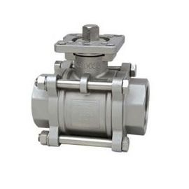 China 3 PC Threaded Stainless Steel Ball Valves , ISO 5211 Investment Casting Ball Valve distributor