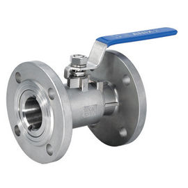 China DN15 Reduced Bore One Piece Ball Valve Flange End With Manual Operated factory
