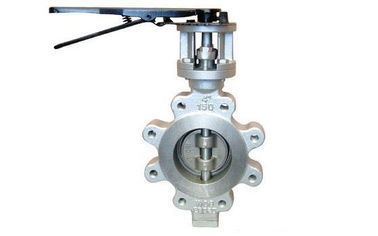 China Carbon Steel Lug Type Eccentric Butterfly Valve Manual ANSI 300LB PN40 distributor