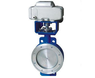 China Eccentric Wafer Electric Actuated Butterfly Valve 10 Inch Stainless Steel distributor
