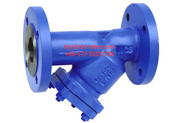 China Cast Iron Flanged 2 Y Type Strainers DIN Standard With SS Screen distributor