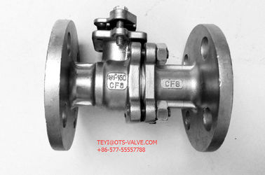 China 2PC Stainless Flanged Ball Valve API 608 Floating Type With Mounting factory