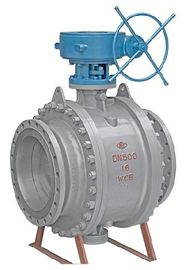 China API Fixed Flanged Ball Valve , Trunnion Ball Valve Flanged End With Cast Steel factory