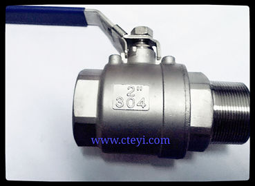 "China Female / Male End Stainless Steel Ball Valves 1/4"" - 4"" Investment Casting Body distributor"