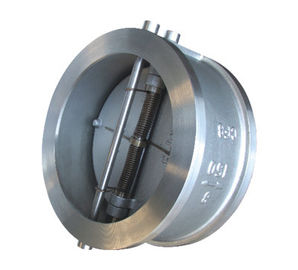 China API 594 API6D Cast Steel Wafer type Double Disc Swing Check Valve factory